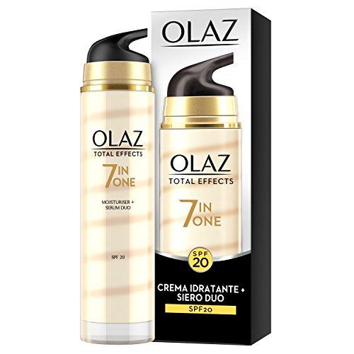Olaz total effects 7in1 crema idratante viso + siero duo anti-età, crema giorno spf 20, 40 ml