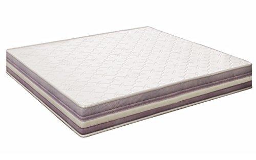 elalmacendelcolchon Colchón viscoelástico Modelo Premium, 80 x 180 x 20cm - Todas Las Medidas, Blanco y Lila