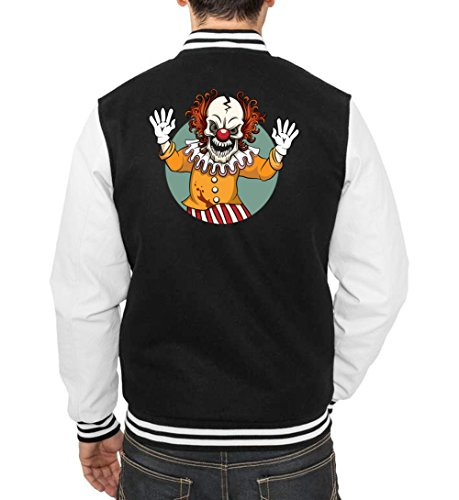 Evil Clown College Vest Black Certified Freak-XL (Lustige College Boy Kostüme)