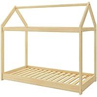 Preisvergleich für Kinderbett Kinderhaus Kinder Bett Holz Haus Schlafen Spielbett Hausbett - natural Massivholz - ACMA