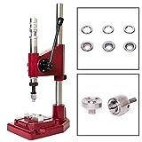 GETMORE Parts Federschlagpresse, Ösenpresse Set + Ösenwerkzeug + Ösen DIN 7332-500 Stück, Edelstahl (V2A INOX), 12 mm
