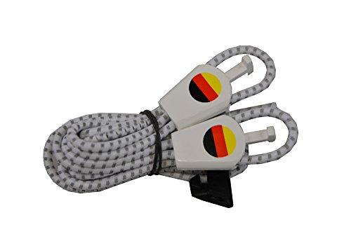 Sistema de Cordones Yankz Redondas Cordones elásticos, Todo el año, Unisex, Color W/S Reflektierend Deutschland Fahne, tamaño Talla única