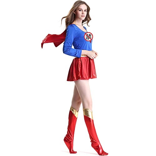 Superman Teenager Kostüm - XSH Halloween Kostüm Sexy Superwoman Anzug Rollenspiel PU Superman,Blau,XXL
