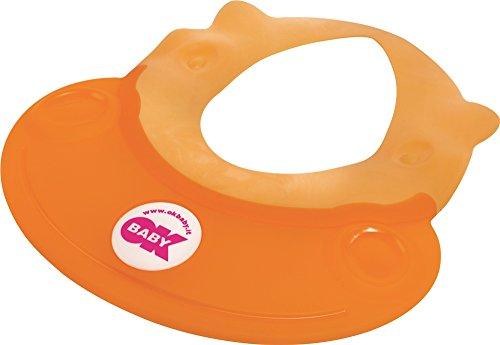 Ok Baby - Ciambella lavatesta per bambini, motivo ippopotamo, colore: Arancio