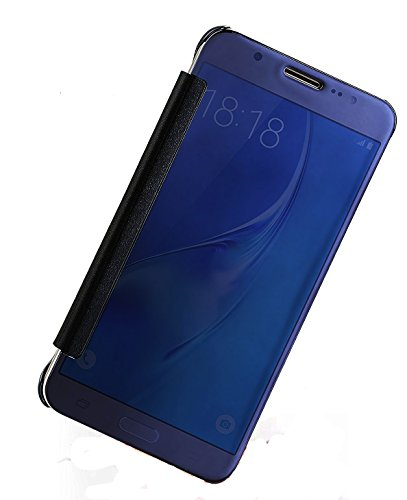 Sun Mobisys™; Samsung Galaxy S5 G900 Flip Cover; Clear View Flip Cover for Samsung Galaxy S5 G900 Navy Blue Mirror  available at amazon for Rs.449