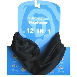 Multifonction Foulard Écharpe tube de cou noir
