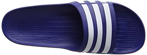 adidas Duramo Slide, Unisex-Erwachsene Zehentrenner trublu/wht/trublu