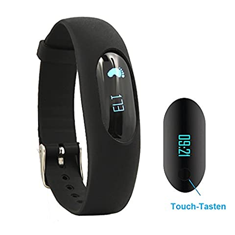 Willful Schrittzähler Armband Fitnessarmband Ohne Bluetooth mit Uhr / Kalorienzähler / Schlafüberwachung / Entfernung / Zeit / Daten Ohne APP Handy für Outdoor-Rennen Gehen