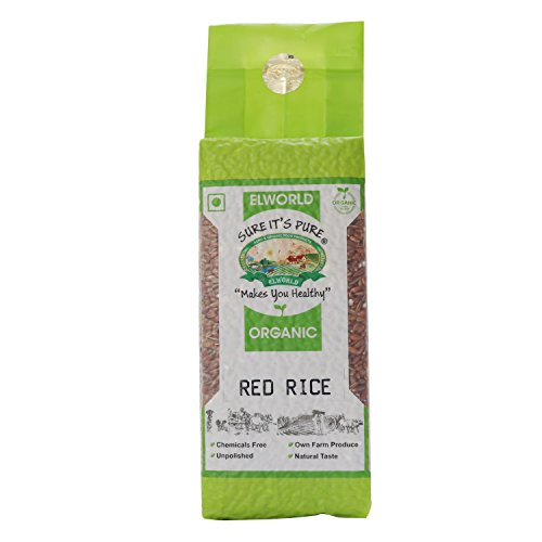 Elworld Organic Red Rice- 500gX2 (Pack of 2)