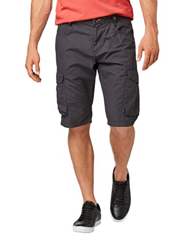 TOM TAILOR für Männer Hosen & Chino Josh Regular Slim Cargo-Shorts Phanton Dark Grey, 31