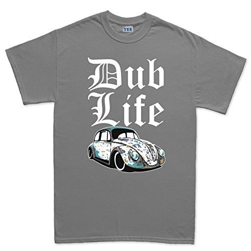 Customised Perfection Thug V Dub Life Beetle Rat Classic Camper T-Shirt Grigio Scuro Medium