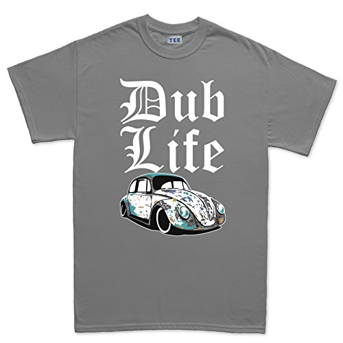 Thug V Dub Life Beetle Rat Classic Camper T-Shirt Grigio Scuro Medium