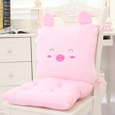 Hebao Cartoon Kissen gepolstertes Kissen schönes Büro Kissen Autositz Dining Chair cushion student Sitzkissen, Siam Kissen 40*80cm, Ferkel (Baby Autositz Doll)