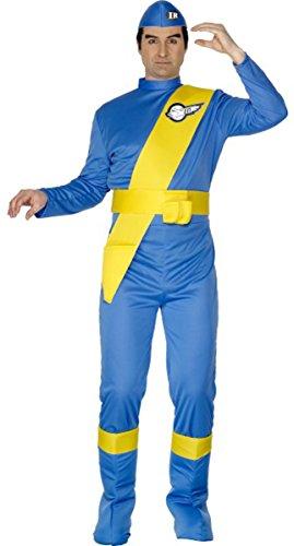 Virgil Costume Thunderbirds (Herren Erwachsene Thunderbirds Virgil Kostüm Outfit Film & TV Lizenzprodukt Fancy Dress Blue Gr. M,)