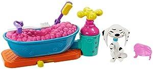 Disney 101 Dalmatian Street Baño de burbujas con figura Dolly y accesorios, juguete niños +5 años (Mattel GBM47)