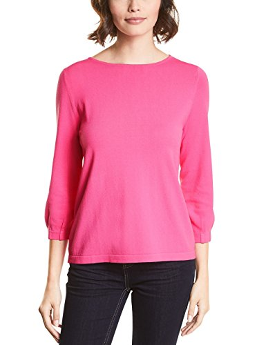 (Street One Damen Pullover 300569, Rosa (Flamingo Pink 11272), 42)