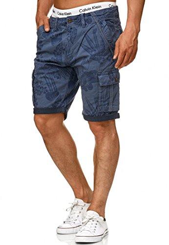 Indicode Herren Albert Hawaii Chino Cargo Shorts Bermuda Kurze Hose aus Stretch-Material Regular Fit Vintage M - Adidas-stretch-shorts