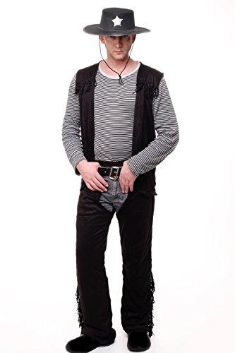 m Herrenkostüm Wilder Westen Cowboy Gunslinger Sheriff L081 Gr. L/XL (Marshalls Halloween-kostüme)
