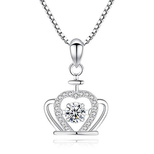 irkonium Bohrer Halskette S925 Silber Schlüsselbein Kette Silber Schmuck Geschenk Einfachen Stil (Size : Chain length 40CM) ()