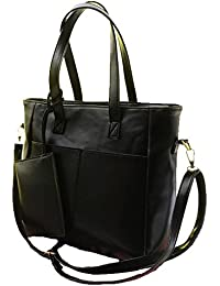 Phabdeals Women Casual Handbags PU Leather Designer Classy Office Shoulder Bag Black