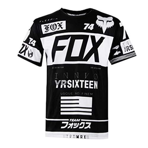 YSYFZ-Outdoor-Radfahren Sport Fahrrad Jersey Kurzarm-Shirt Mountainbike Offroad-Motorrad-Service Kurzarm-T-Shirt Downhill-Anzug Offroad-Sportbekleidung Sommer Männer