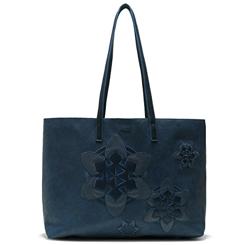 Desigual 3 in 1 Wendetasche Handtasche Shopper Bols Trip Seattle 18SAXP88 Bleu