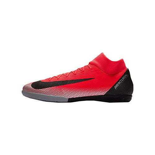 Nike Herren Superflyx 6 Academy Cr7 IC Fußballschuhe, Rot (Bright Crimson/Black-Chrome-Da 600), 44 EU