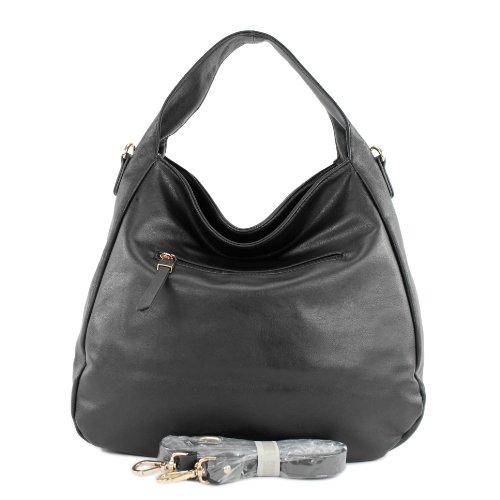 Borsa a mano borsa a tracolla shopping bag in similpelle LK138108 Schwarz