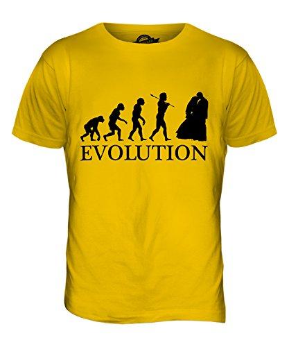 CandyMix Hochzeitsfeier Hochzeit Evolution Des Menschen Herren T Shirt Dunkelgelb