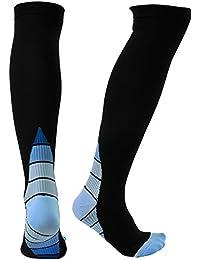 VBIGER 1-4 pares Calcetines de Compresión Deportivos Running para hombres y mujeres