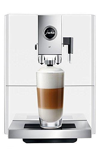 Jura A7Espressomaschine 1,1 l, freistehend, Kaffeebohnen, Thermoblock, Weiß
