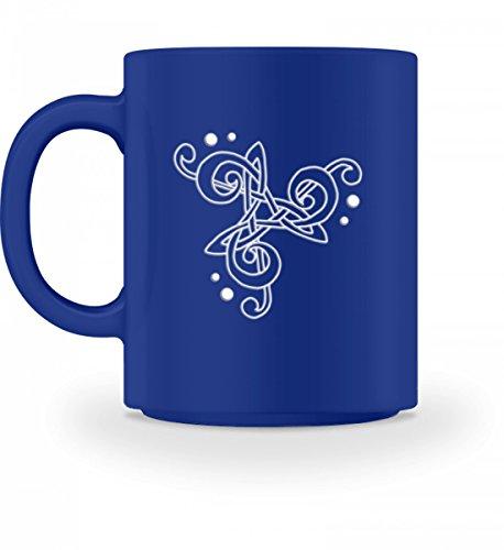 Musik Instrument Singen Chor Noten Musizieren Notenschlüssel Bassschlüssel Grafik Design - Tasse -M-Royal Blau -