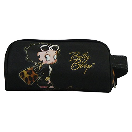 Betty Boop Leopard Pochette Ecole Etui Cas Stylo Make up