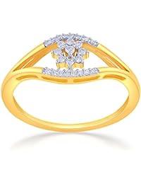 Malabar Gold And Diamonds 18KT Yellow Gold And Diamond Ring For Women - B0777TLWMC