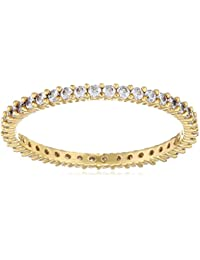 Swarovski – Anillo de mujer chapado en oro cristal transparente – 50289