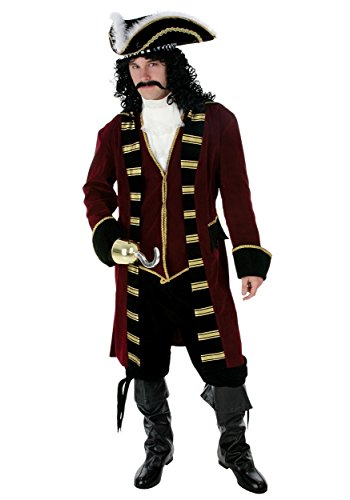 Deluxe Captain Hook Fancy dress costume Small