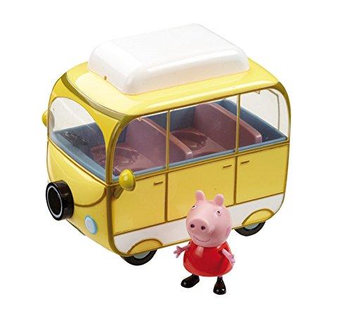 Giochi Preziosi-Peppa Pig-Véhicule avec Figurine, Camping-Car Camper