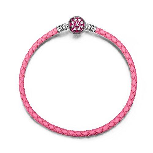 Ninaqueen - bracciale da donna argento sterling - rosa