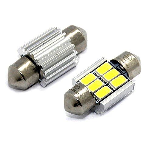 Preisvergleich Produktbild 1x -TÜV FREI- LED SMD CANBUS LAMPE SOFFITTE 31MM 6 SMD 3W CE E9-ZEICHEN KALTWEIß Leselicht Kennzeichen- Innen- Fußraumbeleuchtung