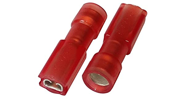 weiblich flach 2.8mm 0.5mm 0.75-1.25mm2 rot isoliert Aerzetix Klemme 10 x Kabelschuhe Kabelschuh