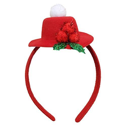 Dewanxin 2 stücke Top Hut Stirnband für Weihnachtsfeier Dekoration Weihnachten Kostüm Haarschmuck party favors (Weihnachts Top Hut)
