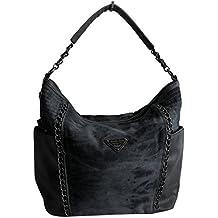 5d62ba6ca4879 Lässige Canvas Jeans Schultertasche von Jennifer Jones - Damentasche