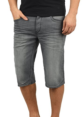 Blend Denon Herren Jeans Shorts Kurze Denim Hose Aus Stretch-Material Regular Fit, Größe:XL, Farbe:Denim Grey (76205)