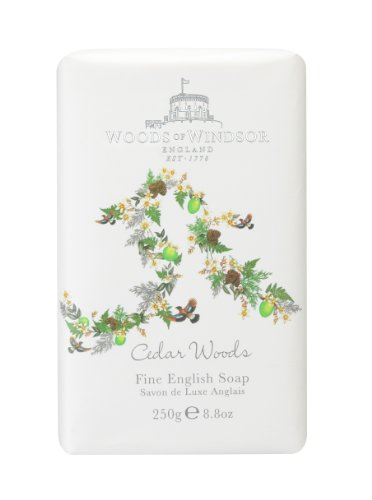 Woods Of Windsor Cedar Woods Fine English Sapone 250g
