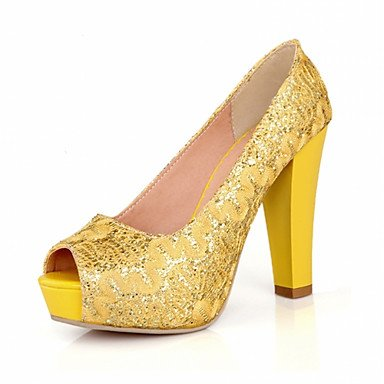 zhENfu Donna Sandali Estate Autunno Club scarpe scarpe formali Comfort Novità PU similpelle Outdoor Office & carriera parte & abito da sera Casual Yellow