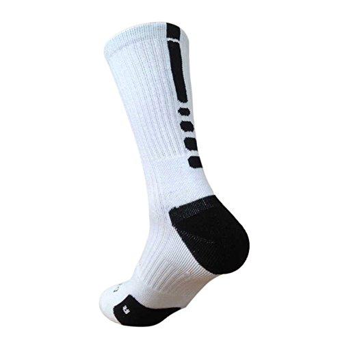 MORESAVE Calzini Mens Basket Calcio Sport calze di cotone imbottite Crew Athletic Dri-Fit