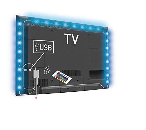 2HY Lichterkette LED USB 19cm mehrfarbig + Fernbedienung für TV Tele Büro -