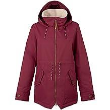 Burton Chaqueta de snowboard, otoño/invierno, mujer, color Rojo - rojo, tamaño M