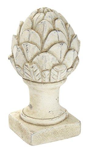 DARO DEKO Stein-Skulptur Pinienzapfen Klein Creme-Weiß