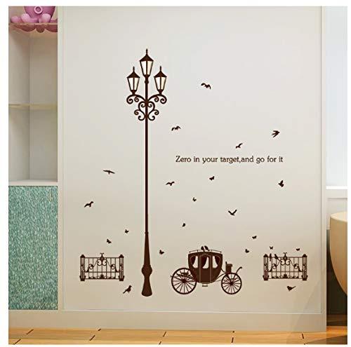 Straßenlaterne Schlafzimmer Wohnzimmer Fenster Abnehmbare Diy Wandaufkleber Poster Eco Aufkleber Dekorative Wandbild -